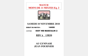 [-11 2] contre Issy HB Masculin 2